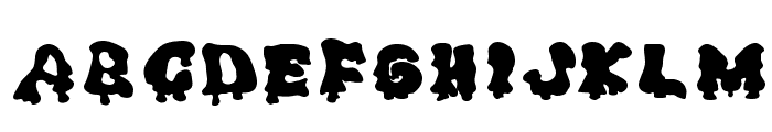 Ghouly Solid Font LOWERCASE