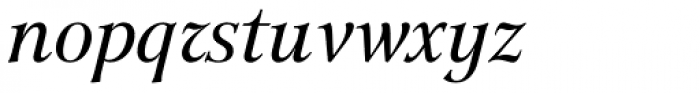 GHEA Lilit Italic Font LOWERCASE