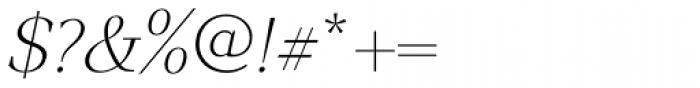 GHEA Narek Serif ExtraLight Italic Font OTHER CHARS