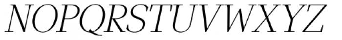 GHEA Narek Serif ExtraLight Italic Font UPPERCASE