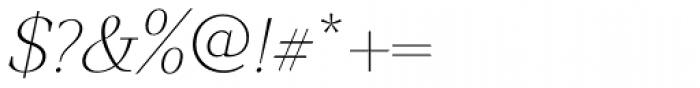GHEA Narek Serif UltraLight Italic Font OTHER CHARS