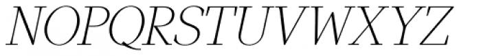 GHEA Narek Serif UltraLight Italic Font UPPERCASE