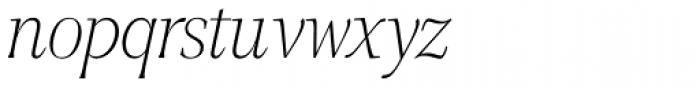 GHEA Narek Serif UltraLight Italic Font LOWERCASE