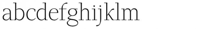 GHEA Narek Serif UltraLight Font LOWERCASE