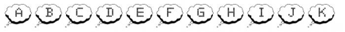 Ghab Bubble Speech 2 Font LOWERCASE