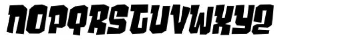 Ghost Boy Skew Font UPPERCASE