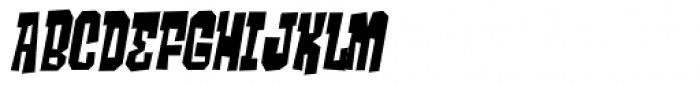 Ghost Boy Skinny Skew Font UPPERCASE