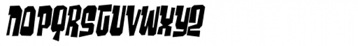 Ghost Boy Skinny Skew Font LOWERCASE