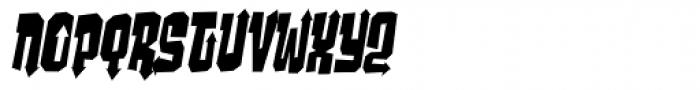 Ghost Boy Style Skinny Skew Font UPPERCASE