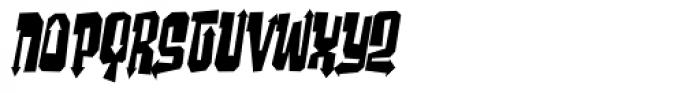 Ghost Boy Style Skinny Skew Font LOWERCASE