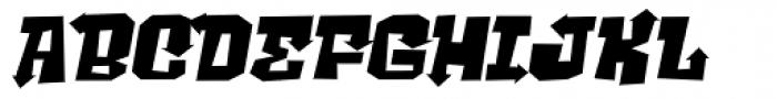 Ghost Boy Style Wide Skew Font UPPERCASE