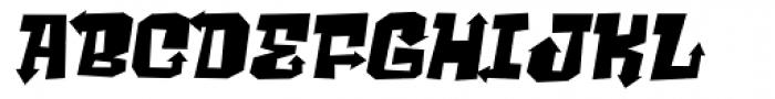 Ghost Boy Style Wide Skew Font LOWERCASE