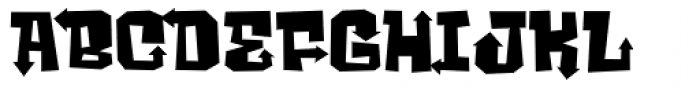 Ghost Boy Style Wide Font LOWERCASE