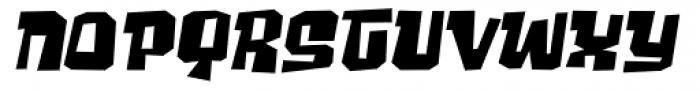 Ghost Boy Wide Skew Font LOWERCASE