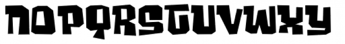 Ghost Boy Wide Font LOWERCASE