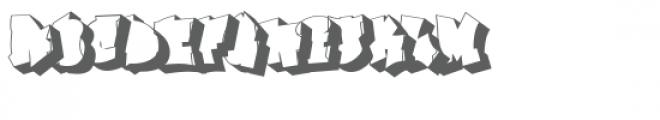 Ghaile Grafiti Outline Shadow Font UPPERCASE