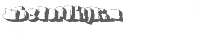 Ghaile Grafiti Outline Shadow Font LOWERCASE
