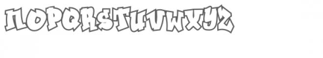 Ghaile Grafiti Outline Font UPPERCASE