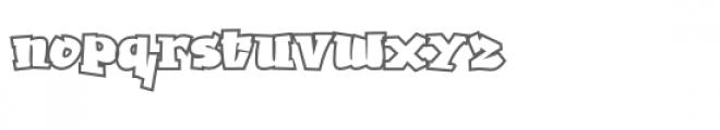Ghaile Grafiti Outline Font LOWERCASE