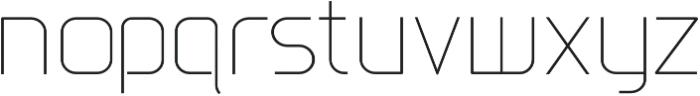 Gia UltraLite otf (400) Font LOWERCASE