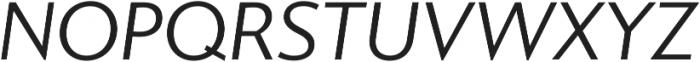 Gibbs Book Italic otf (400) Font UPPERCASE