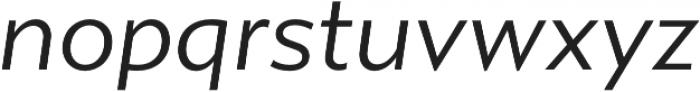 Gibbs Book Italic otf (400) Font LOWERCASE