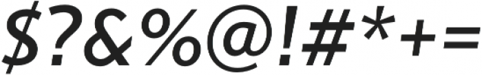 Gibbs Medium Italic otf (500) Font OTHER CHARS