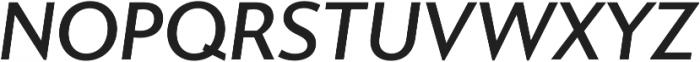 Gibbs Medium Italic otf (500) Font UPPERCASE