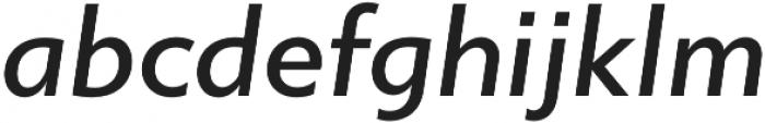 Gibbs Medium Italic otf (500) Font LOWERCASE
