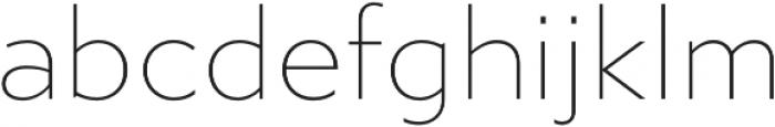 Gibbs Thin otf (100) Font LOWERCASE