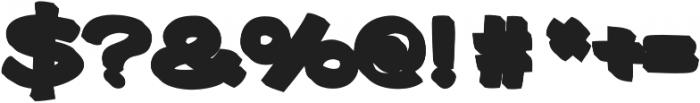 Gibon Bold 3D Bottom Bold otf (700) Font OTHER CHARS