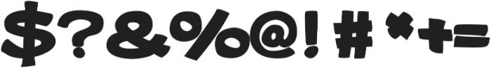 Gibon Bold Bottom Bold otf (700) Font OTHER CHARS