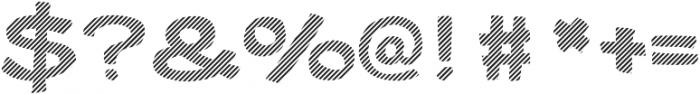 Gibon Bold Fill Striped 2 Bold otf (700) Font OTHER CHARS