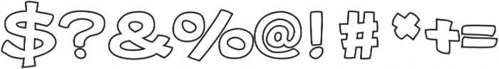 Gibon Bold Outline Bold otf (700) Font OTHER CHARS