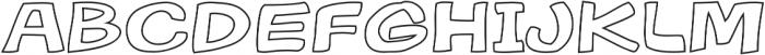 Gibon Bold Outline Bold otf (700) Font UPPERCASE