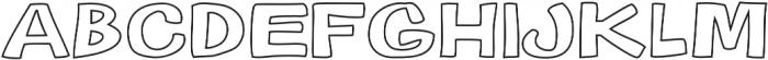 Gibon Bold Outline Bold otf (700) Font LOWERCASE