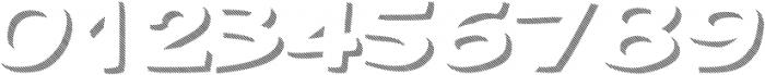 Gibon Bold Shadow Striped 1 Bold otf (700) Font OTHER CHARS