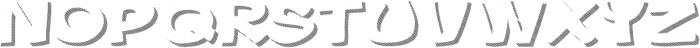 Gibon Bold Shadow Striped 1 Bold otf (700) Font UPPERCASE