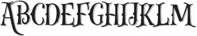 Gibsons Co Shadow otf (400) Font UPPERCASE