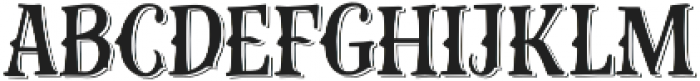 Gibsons Co Shadow otf (400) Font LOWERCASE