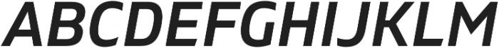 Gilam SemiBold Italic otf (600) Font UPPERCASE