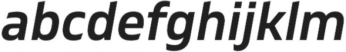 Gilam SemiBold Italic otf (600) Font LOWERCASE