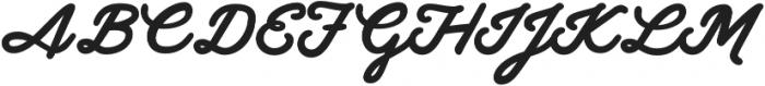 Gilly Bold otf (700) Font UPPERCASE