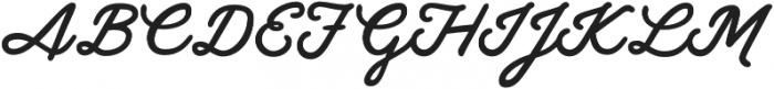 Gilly Medium otf (500) Font UPPERCASE