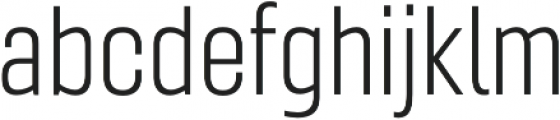 Gineso Cond Light otf (300) Font LOWERCASE