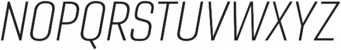 Gineso Cond Thin Italic otf (100) Font UPPERCASE