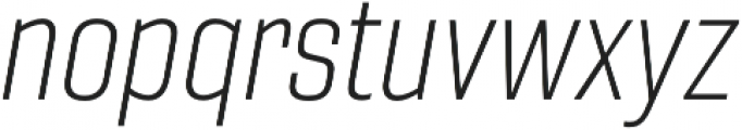 Gineso Cond Thin Italic otf (100) Font LOWERCASE