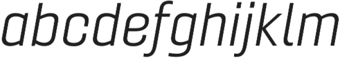 Gineso Ext Book Italic otf (400) Font LOWERCASE