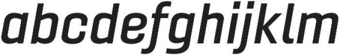 Gineso Ext Demi Italic otf (400) Font LOWERCASE