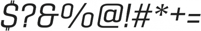 Gineso Ext Regular Italic otf (400) Font OTHER CHARS